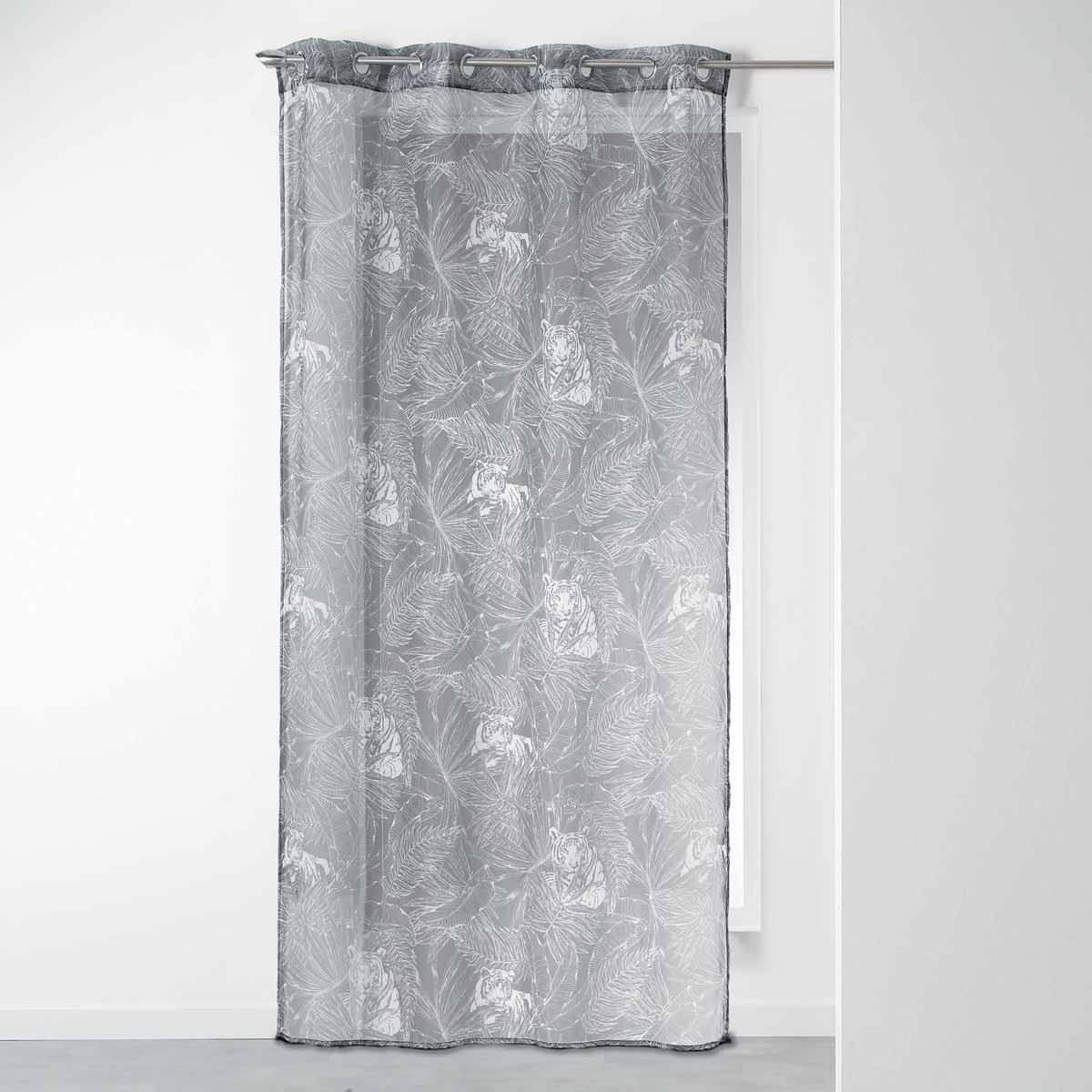 Κουρτίνα (140×240) Με Τρουκς L-C Goji Voilage Anthracite 1408716