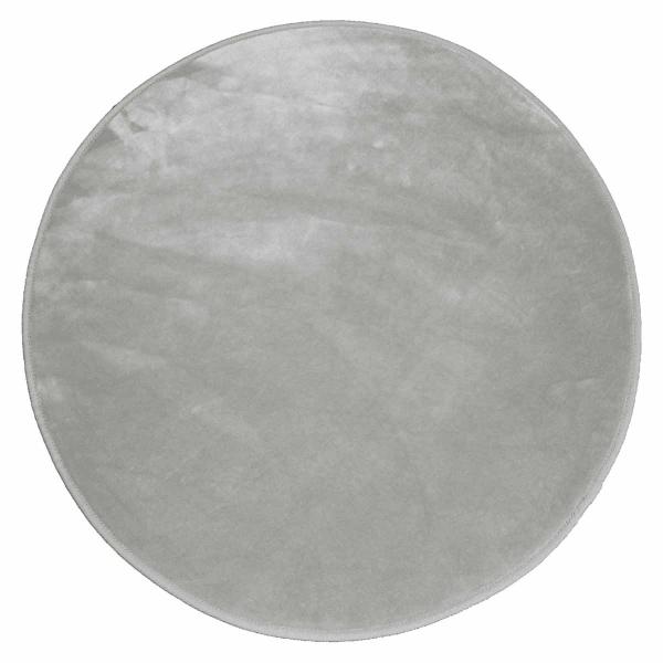 Στρογγυλό Πατάκι (Φ90) L-C Velvet Louna Gris 1603060