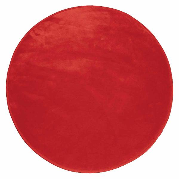 Στρογγυλό Πατάκι (Φ90) L-C Velvet Louna Rouge 1603061