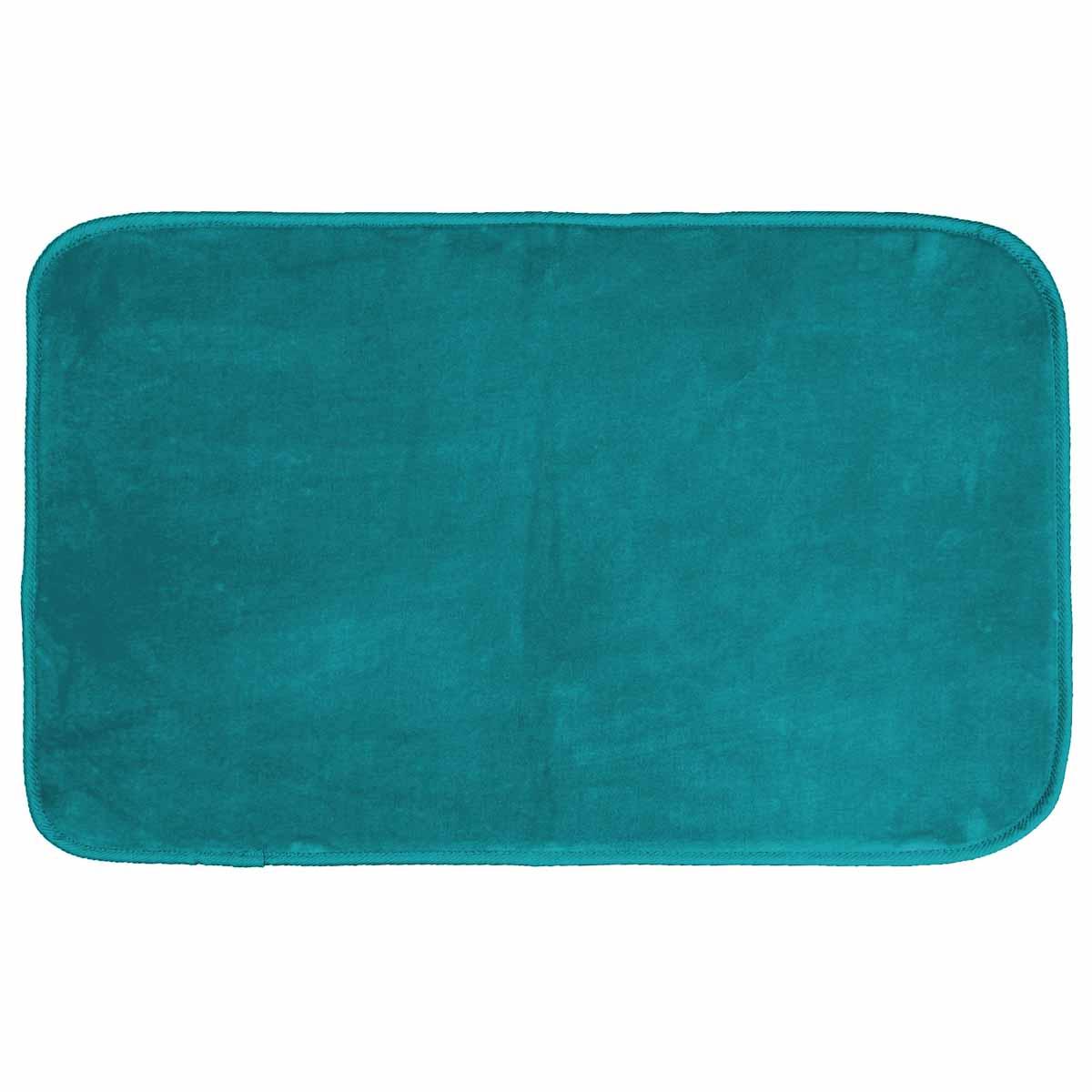Πατάκι (50×80) L-C Velvet Louna Bleu Lagon 1605955