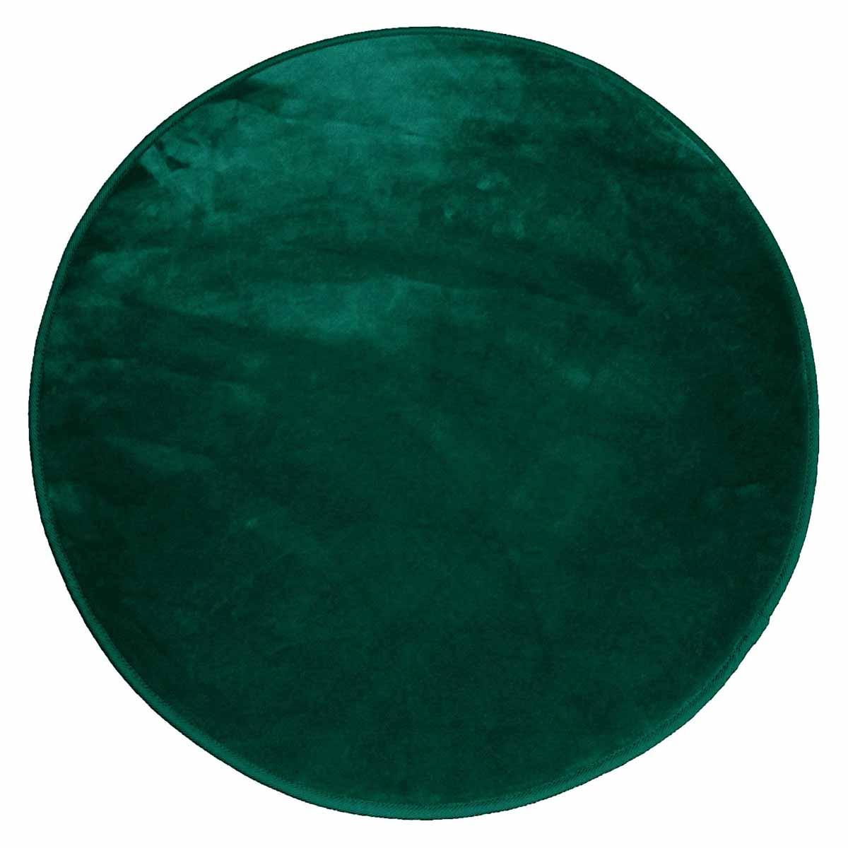 Στρογγυλό Πατάκι (Φ90) L-C Velvet Louna Vert 1607800
