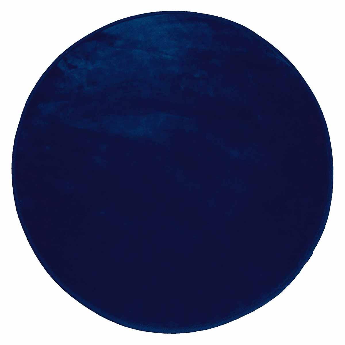 Στρογγυλό Πατάκι (Φ90) L-C Velvet Louna Bleu Nuit 1607801