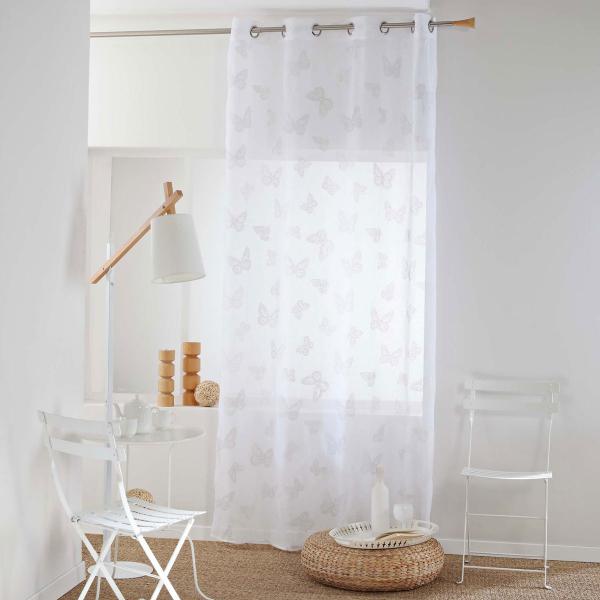 Κουρτίνα (140x240) Με Τρουκς L-C Amalia Blanc 1625998