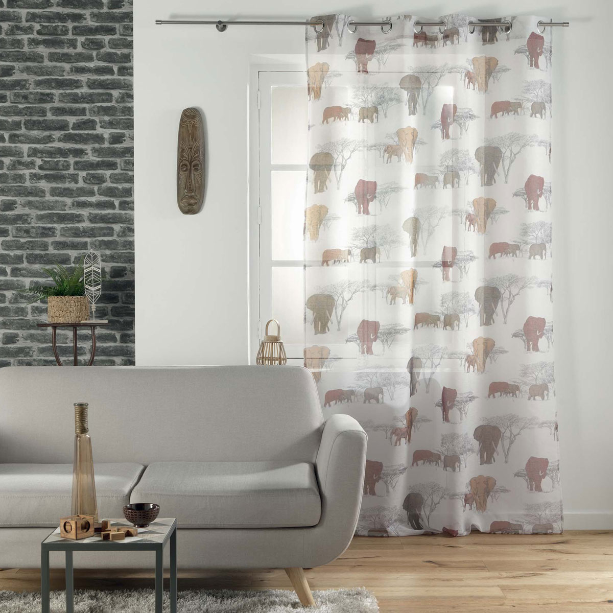 Κουρτίνα (140×240) Με Τρουκς L-C Toundra Voilage 1626423