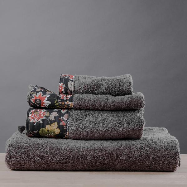 Πετσέτες Μπάνιου (Σετ 3τμχ) White Fabric Acanthus Beige