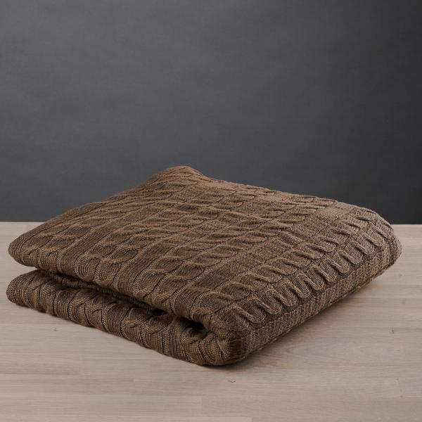 Κουβέρτα Καναπέ Πλεκτή White Fabric Old Navy Brown