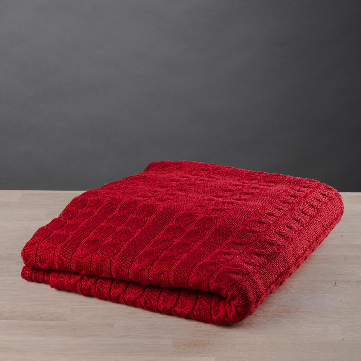Κουβέρτα Καναπέ Πλεκτή White Fabric Old Navy Red