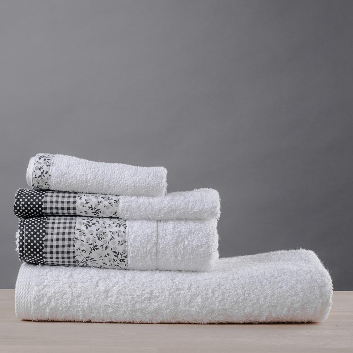 Πετσέτα Χεριών (30×50) White Fabric Patchwork White