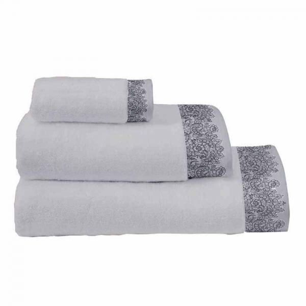 Πετσέτες Μπάνιου (Σετ 3τμχ) Makis Tselios Romantic Grey