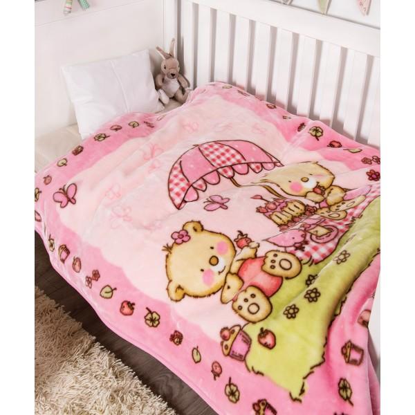 Κουβέρτα Βελουτέ Κούνιας Kentia Baby Pic Nic