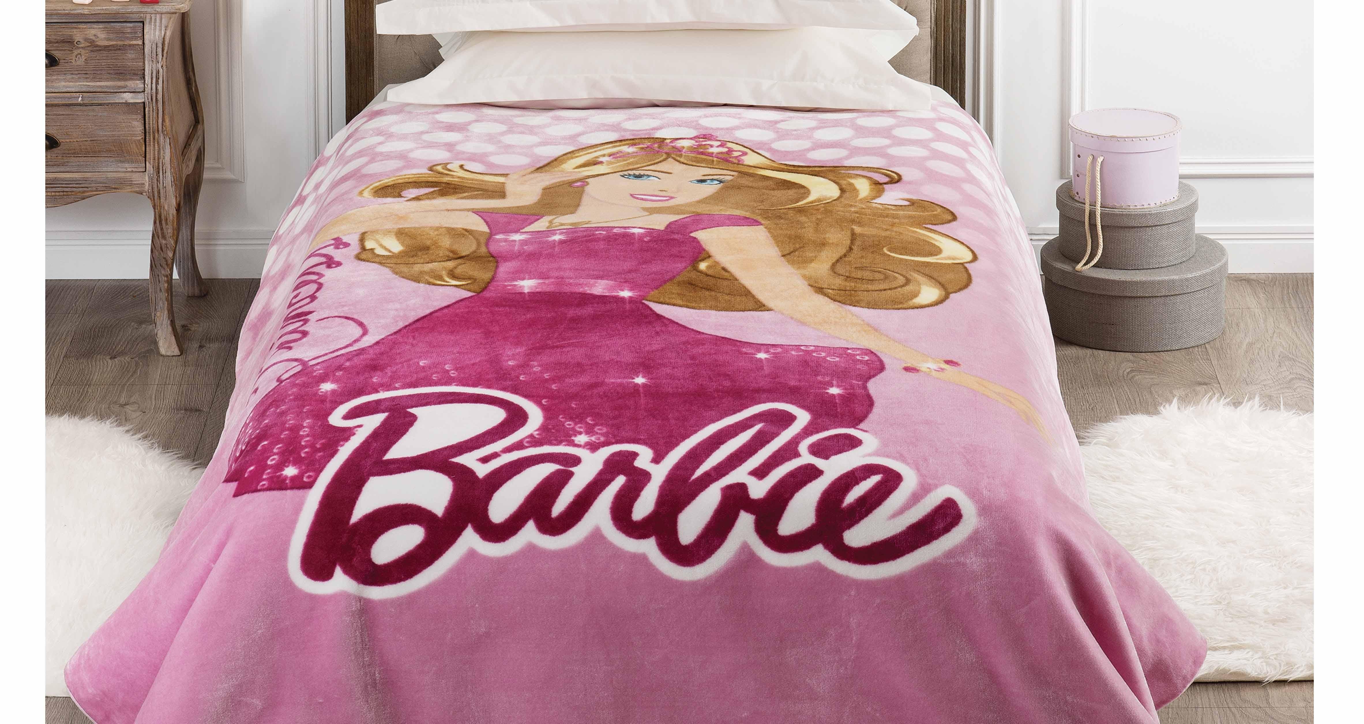 Κουβέρτα Μονή Βελουτέ Kentia Kids Barbie 060