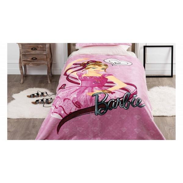 Κουβέρτα Βελουτέ Μονή Kentia Kids Barbie 061