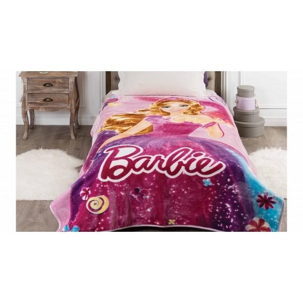 Κουβέρτα Βελουτέ Μονή Kentia Kids Barbie 062