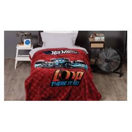 Κουβέρτα Βελουτέ Μονή Kentia Kids Hot Wheels 017