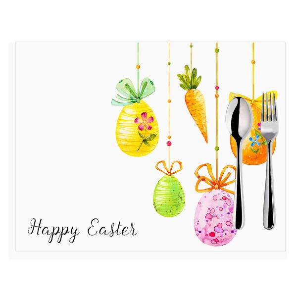 Σουπλά (Σετ 2τμχ) Mike & Co Happy Easter 790-4262/1