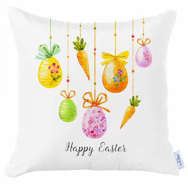 Διακοσμητική Μαξιλαροθήκη (45x45) Mike & Co Happy Easter 712-4267/1