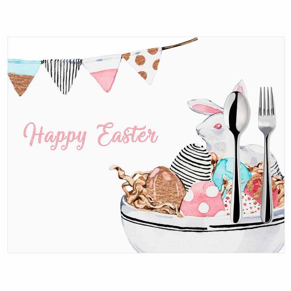 Σουπλά (Σετ 2τμχ) Mike & Co Happy Easter 790-4274/1