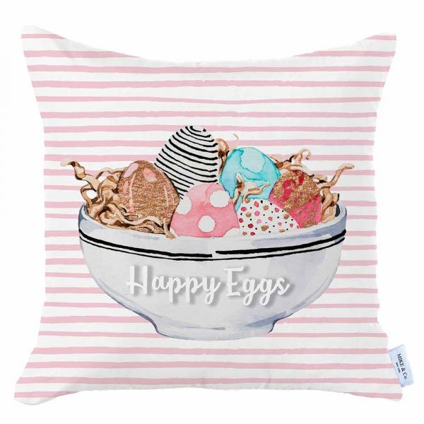 Διακοσμητική Μαξιλαροθήκη (45x45) Mike & Co Happy Easter 712-4279/1