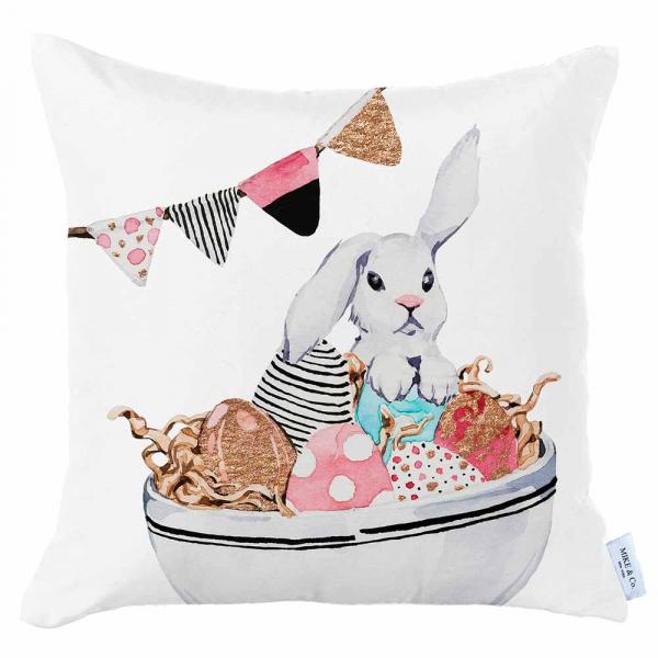 Διακοσμητική Μαξιλαροθήκη (45x45) Mike & Co Happy Easter 712-4278/1