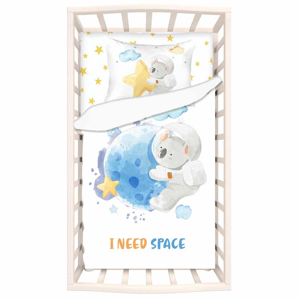 Σεντόνια Κούνιας (Σετ) Mike & Co Ι Need Space 166-4386-1