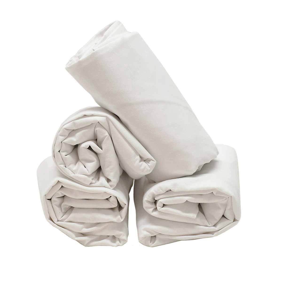Κατωσέντονο Κούνιας Με Λάστιχο Ninna Nanna 22900 Λευκό