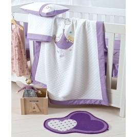 Κουβέρτα Ματλασέ Κούνιας Kentia Baby Lullaby