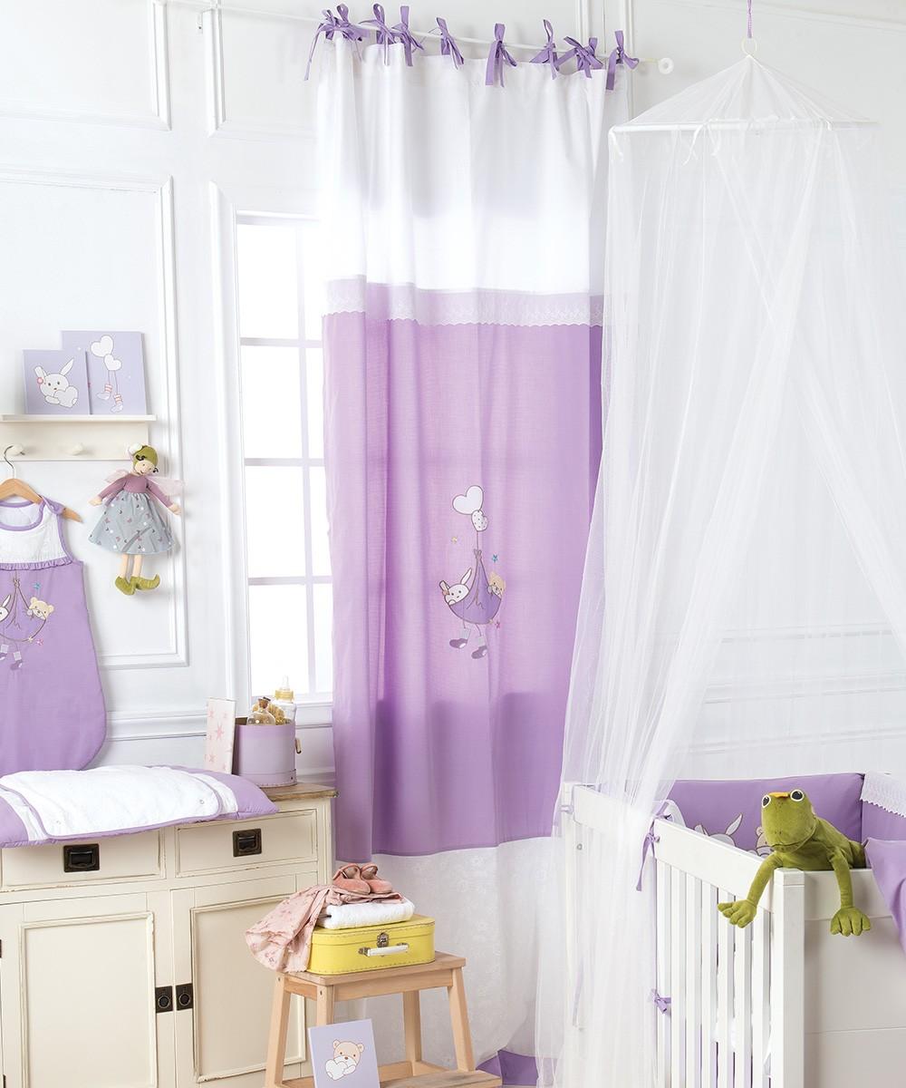 Παιδική Κουρτίνα (140×270) Με Θηλιές Kentia Baby Lullaby
