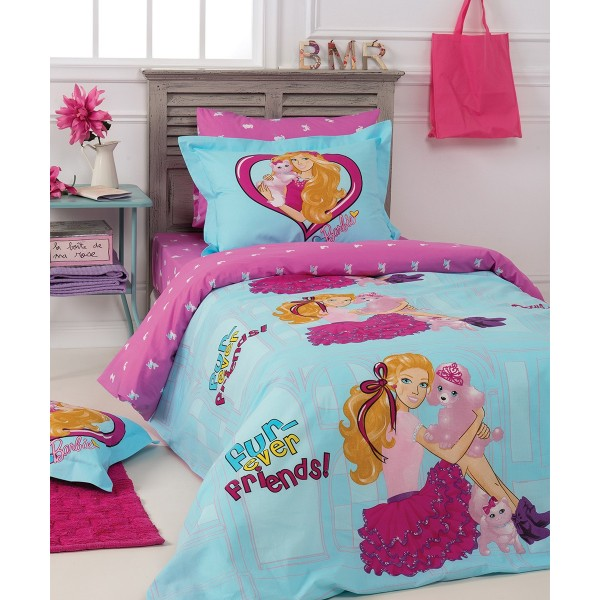 Παπλωματοθήκη Μονή (Σετ) Kentia Kids Collection Barbie 513