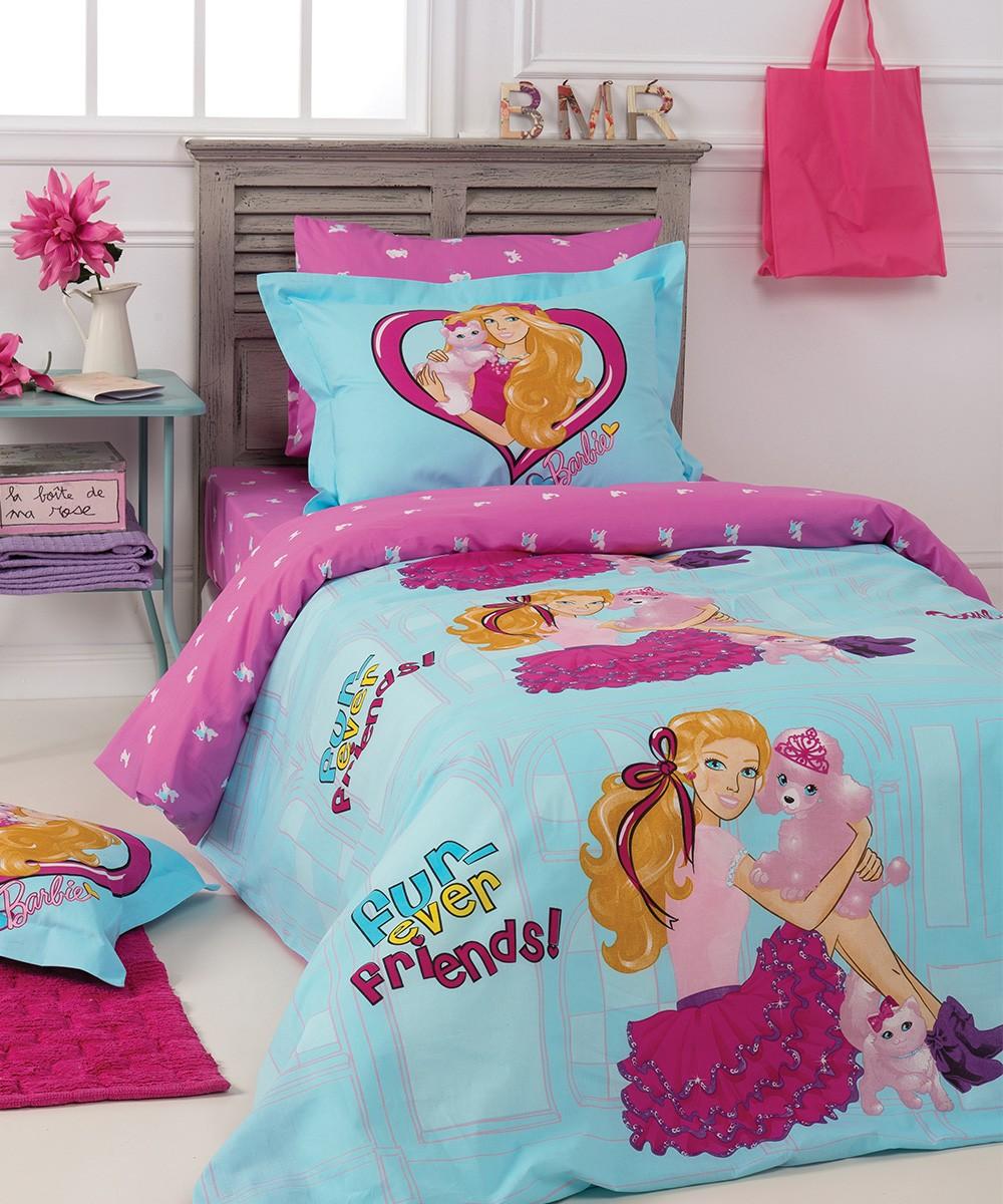 Παπλωματοθήκη Μονή (Σετ) Kentia Kids Collection Barbie 513 31021
