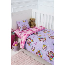 Παπλωματοθήκη Κούνιας (Σετ) Kentia Baby Little Miss