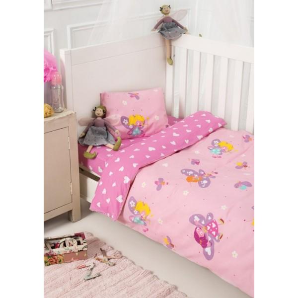 Παπλωματοθήκη Κούνιας (Σετ) Kentia Baby Fairy
