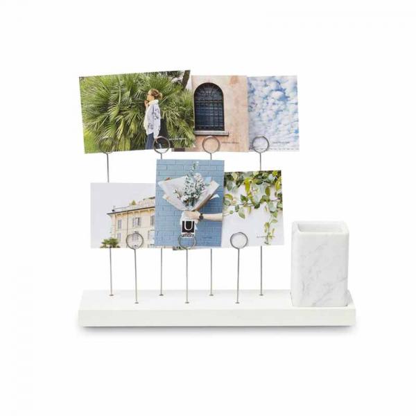 Κορνίζα-Σταντ Φωτογραφιών + Βάζο Umbra Gala Marble 1004414-660