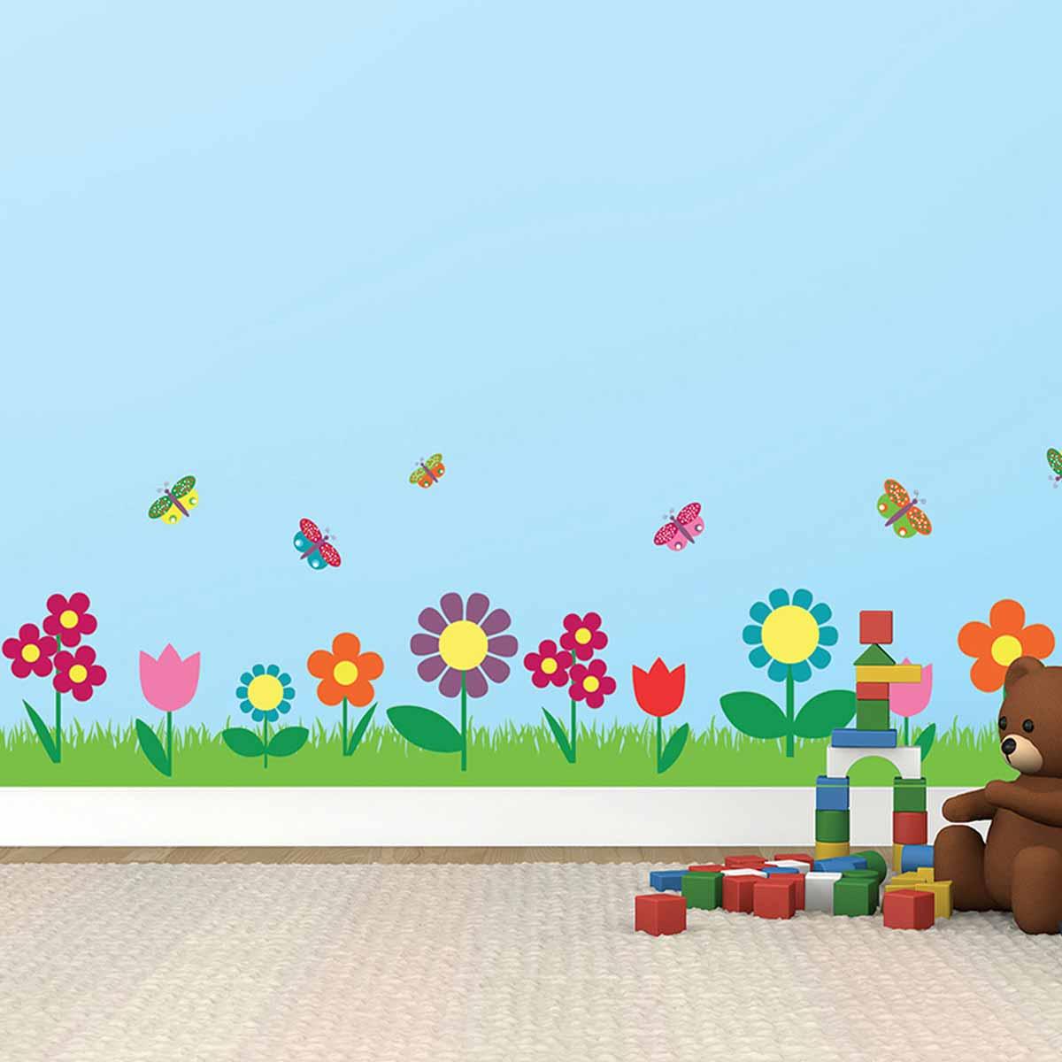 Παιδική Αυτοκόλλητη Μπορντούρα Τοίχου Ango Flowers 14008