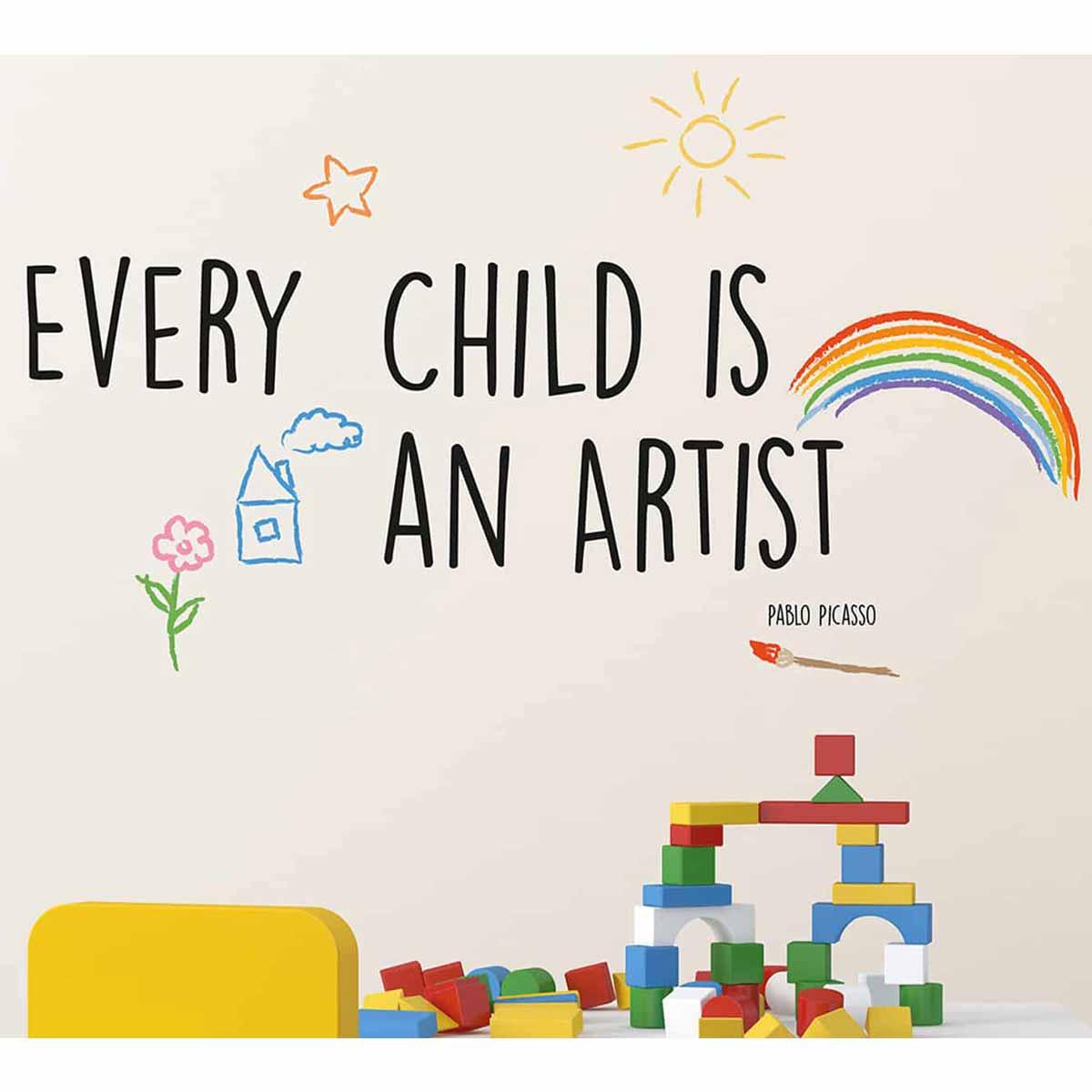Παιδικό Αυτοκόλλητο Τοίχου Ango Artist 16203