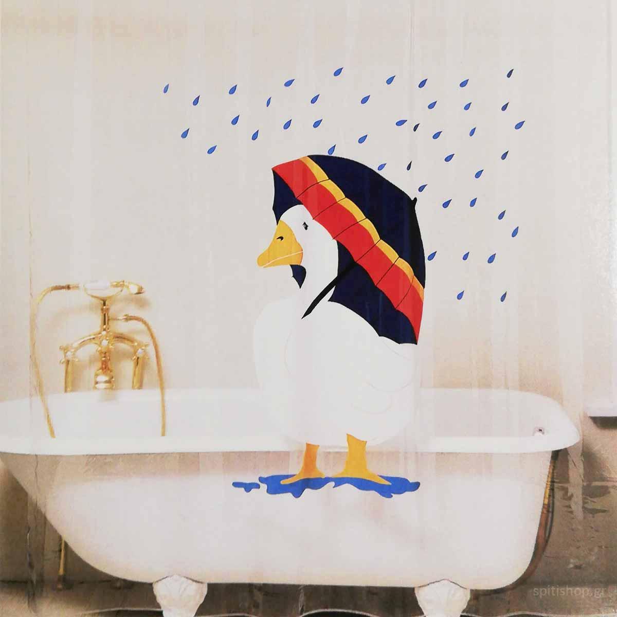 Κουρτίνα Μπάνιου Πλαστική (180×200) San Lorentzo SS-624