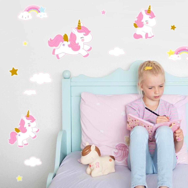 Παιδικά Αυτοκόλλητα Τοίχου Α Little Lovely Company Unicorn WSUNGO05