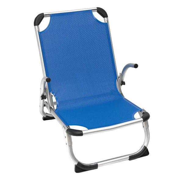 Καρεκλάκι Παραλίας Αλουμινίου Ενισχυμένο Velco 141-9632-1 Μπλε