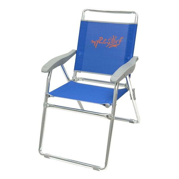 Καρέκλα Παραλίας Αλουμινίου Ενισχυμένη Velco 141-6814-1 Μπλε