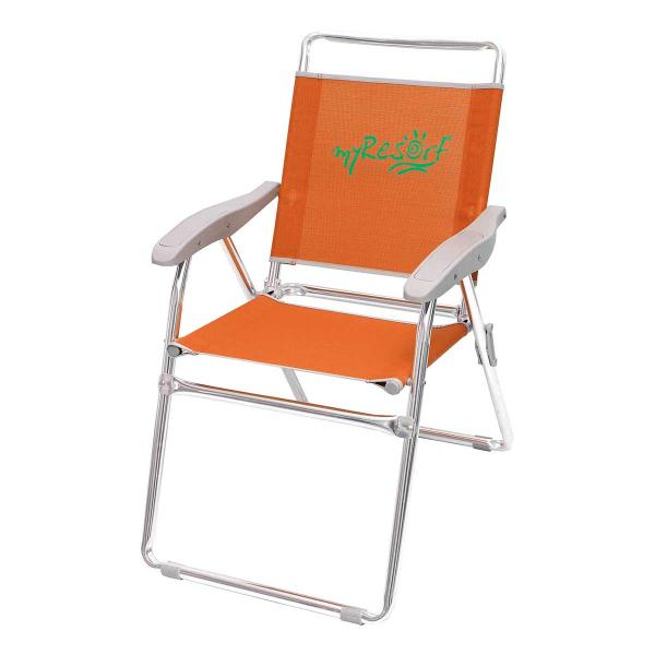 Καρέκλα Παραλίας Αλουμινίου Ενισχυμένη Velco 141-6814-2 Πορτοκαλ