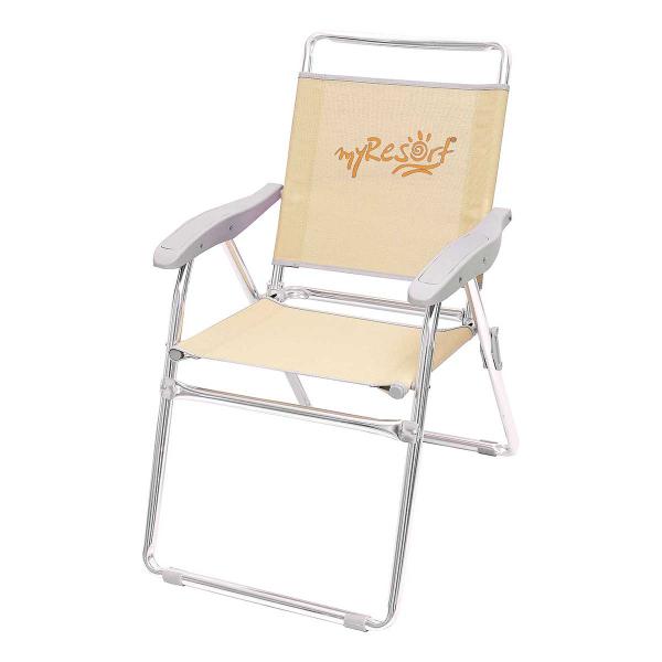 Καρέκλα Παραλίας Αλουμινίου Ενισχυμένη Velco 141-6814-4 Εκρού