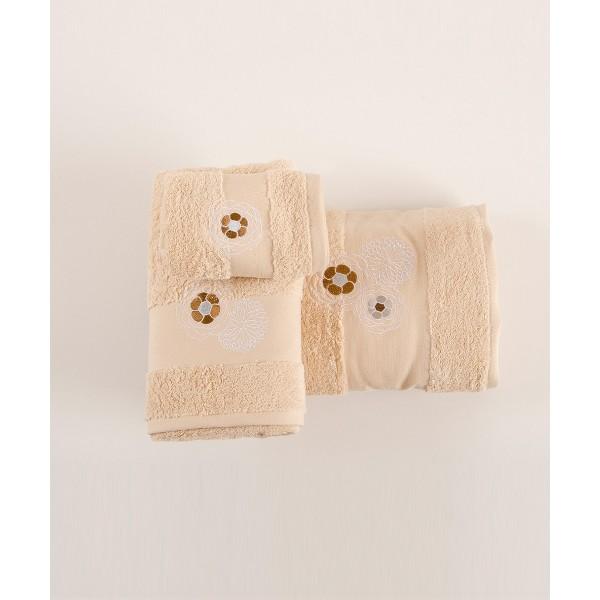 Πετσέτες Μπάνιου (Σετ 3τμχ) Kentia Loreta 12