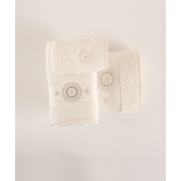 Πετσέτες Μπάνιου (Σετ 3τμχ) Kentia Narciso 12