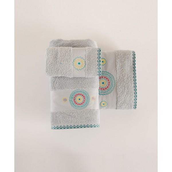 Πετσέτες Μπάνιου (Σετ 3τμχ) Kentia Narciso 22