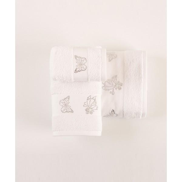 Πετσέτες Μπάνιου (Σετ 3τμχ) Kentia Imelda 00