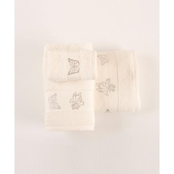 Πετσέτες Μπάνιου (Σετ 3τμχ) Kentia Imelda 12