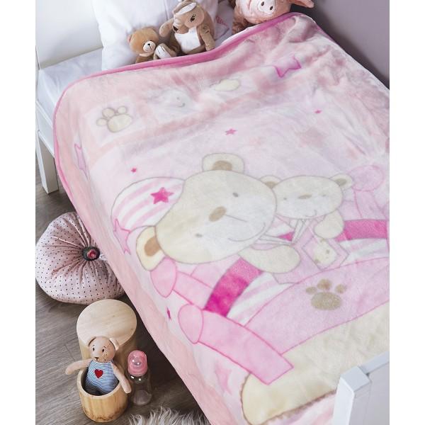 Κουβέρτα Βελουτέ Κούνιας Kentia Baby Bear 152