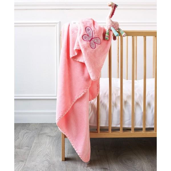Κουβέρτα Βελουτέ Κούνιας Kentia Baby Garden