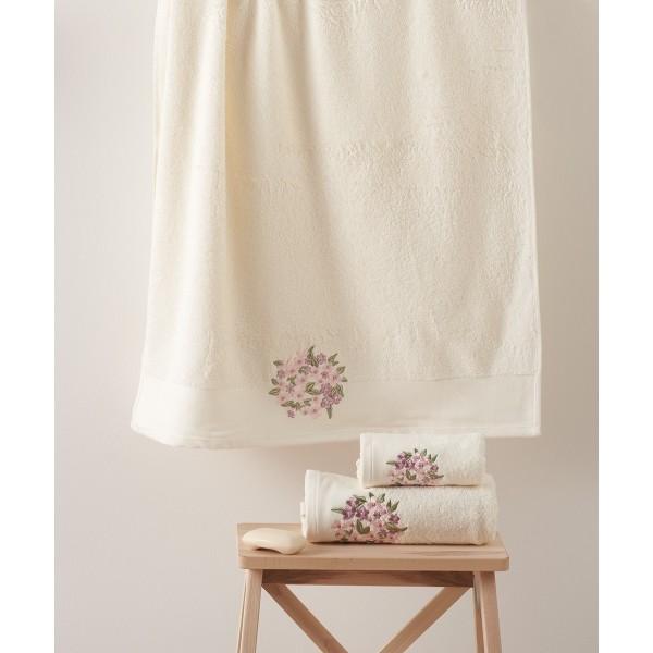 Πετσέτες Μπάνιου (Σετ 3τμχ) Kentia Fiorete 12