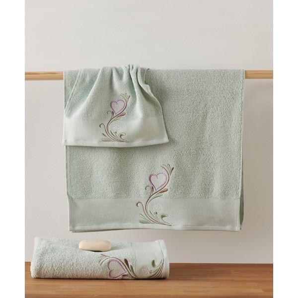 Πετσέτες Μπάνιου (Σετ 3τμχ) Kentia Loving 10