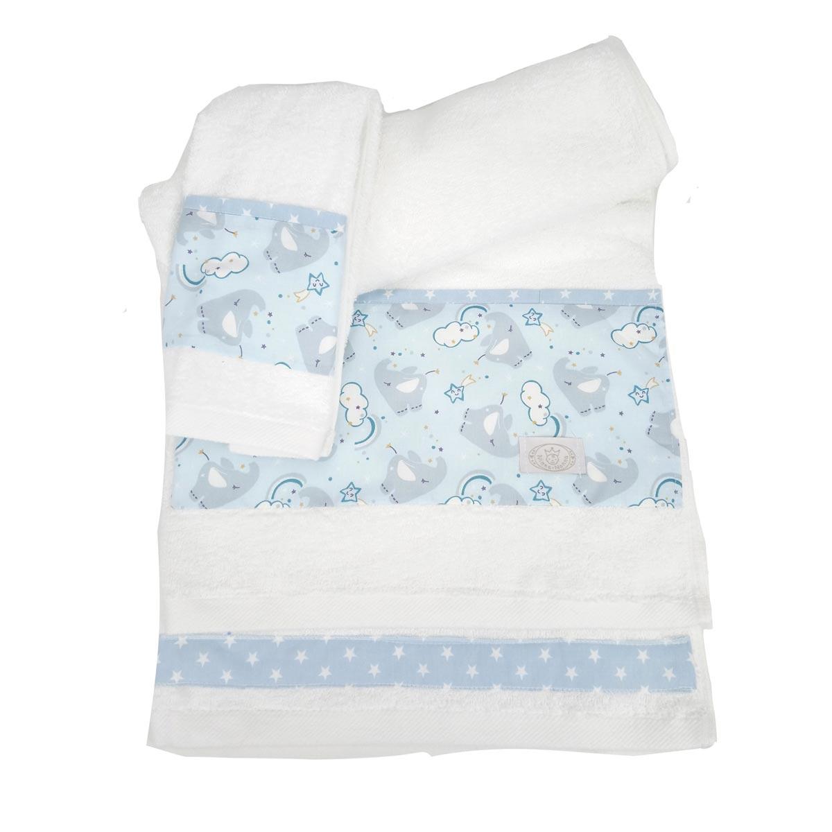 Βρεφικές Πετσέτες (Σετ 2τμχ) Ninna Nanna Blue Elephant
